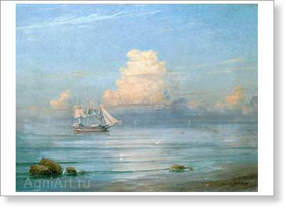 Aivazovsky Ivan. Waterscape. Art print on canvas - paintings, sale