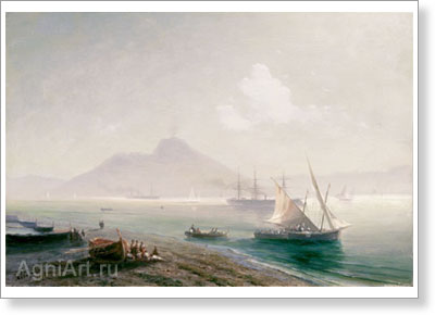 Aivazovsky Ivan. Sea Bay. Art print on canvas
