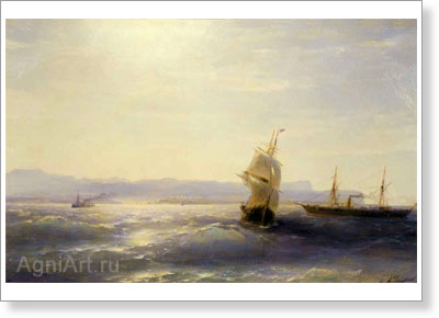 Aivazovsky Ivan. Sunny Day. Art print on canvas
