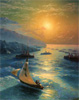 Aivazovsky Ivan. Ships at the Feodosiya Roadstead.  Fine Art Print B2