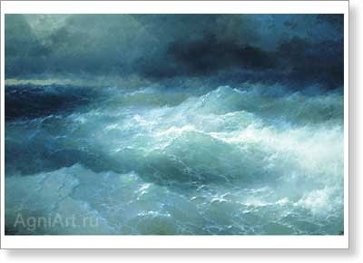 Aivazovsky Ivan. Amidst the Waves. Fine art print B2