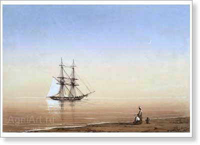 Aivazovsky Ivan. Calm. Art print on canvas