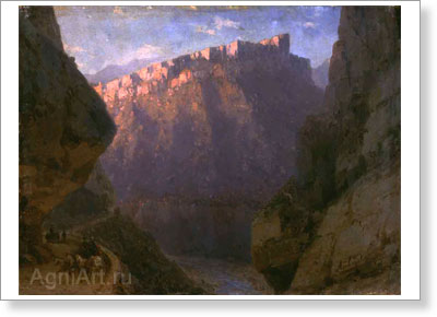 Aivazovsky Ivan. Daryal Pass. Art print on canvas
