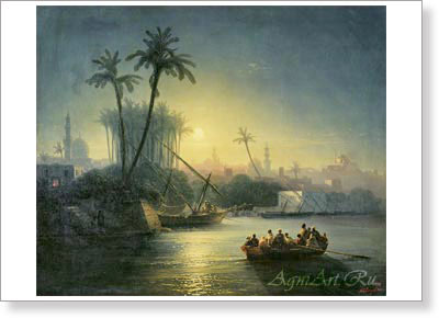 Aivazovsky Ivan. Golden Horn. Art print on canvas - paintings, sale of paintings