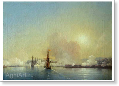 Aivazovsky Ivan. Entrance to the Bay of Sevastopol. Art print on canvas
