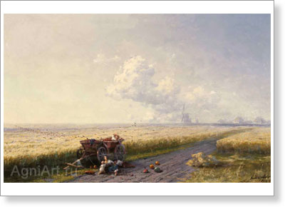 Aivazovsky Ivan. During Harvest Time in Ukraine. Art print on canvas