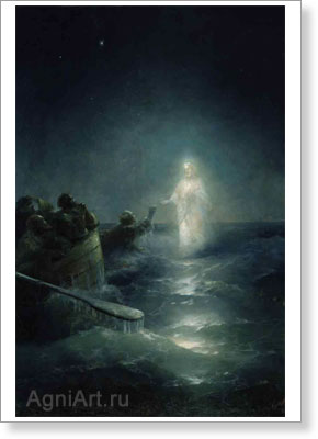 Aivazovsky Ivan. Walking on the Water. Art print on canvas