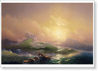 Aivazovsky Ivan. Tenth Wave. Fine art print B2