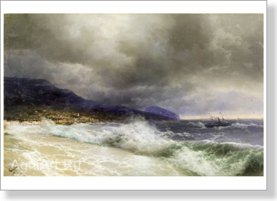 Aivazovsky Ivan. Yalta. Art print on canvas
