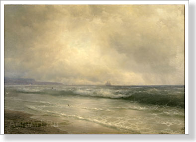 Aivazovsky Ivan. Breaking Waves. Art print on canvas
