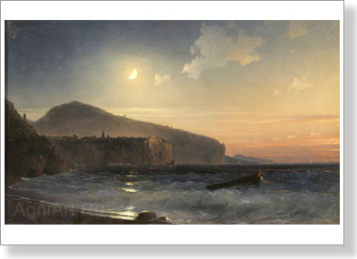 Aivazovsky Ivan. Night at Sea . Art print on canvas