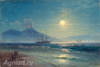 The Tretyakov Gallery. Aivazovsky I. Bay of Naples at night. Art print on canvas