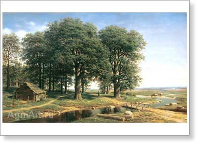 Klodt Mikhail. Oak Grove. Art print on canvas