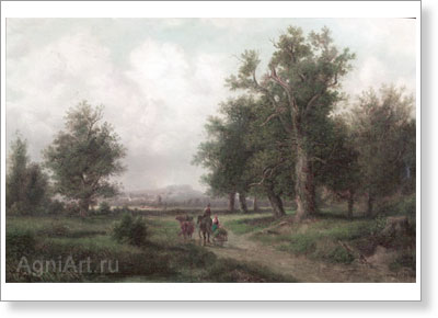 Klodt Mikhail. Zegevolt Estate. Art print on canvas