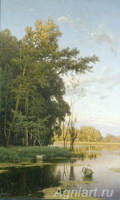 Orlovsky Vladimir. Lake in the Gatchina Park. Art print on canvas