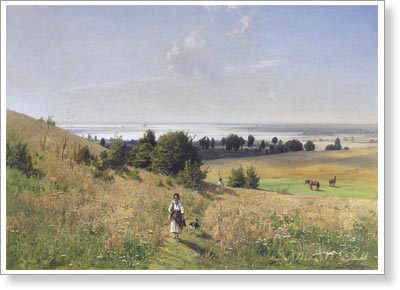 Orlovsky Vladimir. Ukrainian landscape. Art print on canvas