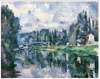 Cezanne Paul. The Bridge Across the Marne at Creteil. Fine art postcard A6
