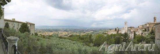 The world countries - panoramic landscapes. Italy. Assisi. 3118