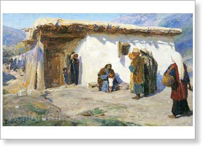 "Polenov Vasily. ""Children Were Brought"". ""Christ's Life"" Cycle. Fine Art Print С3"