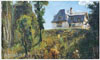 Polenov Vasily. House of the Polenovs in Boekhovo. Art print on canvas - paintings, sale