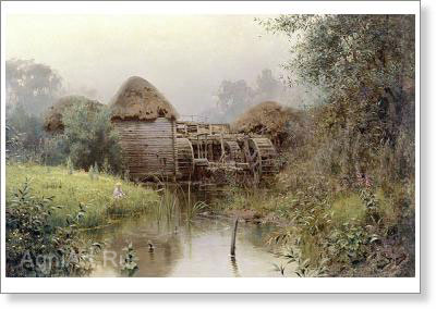 Polenov Vasily. Old Mill. Fine art postcard A6
