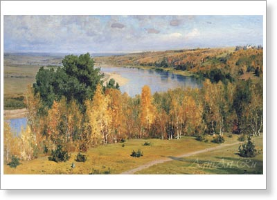 Polenov Vasily. Golden Autumn. Art print on canvas - paintings, sale