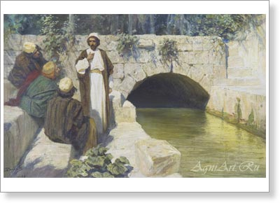 "Polenov Vasily. ""Who Do People Say I Am?"" From the ""Christ's Life"" Cycle. Art print on canvas"