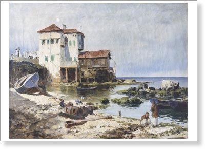 Polenov Vasily. Beirut. Art print on canvas