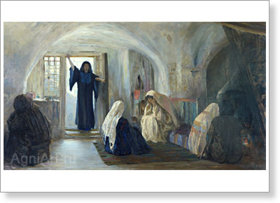 "Polenov Vasily. And She Told Good News to the Mourning Ones. From the ""Christ's Life"" Cycle. Fine art postcard A6"