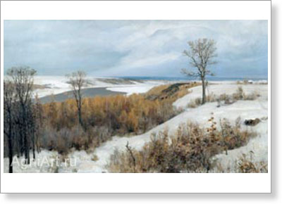 Polenov Vasily. Early Snow: Boekhovo. Fine art postcard A6