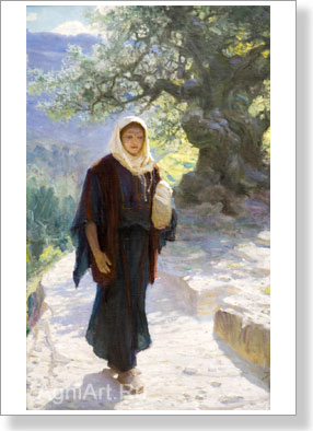 "Polenov Vasily. ""Mary went to the hill country"". Art print on canvas - paintings, sale of paintings"
