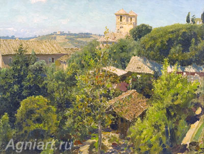 Polenov Vasily. Villa Medici - Rome. Art print on canvas