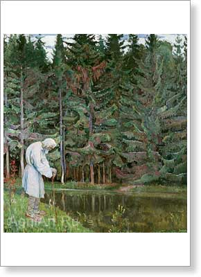 Nesterov Mikhail. Elderly Man – Abraham the Servant of God. Art print on canvas