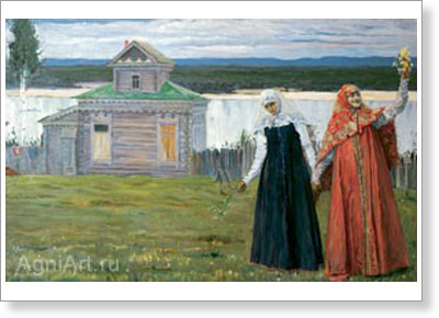 Nesterov Mikhail. In the Convent (Sister). Art print on canvas