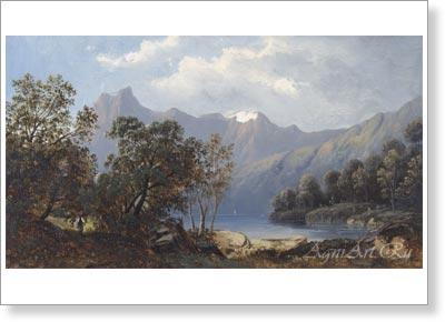 Горные пейзажи картины
