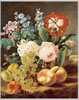 Anonymous artist. Flowers and Fruit. Fine art print B3