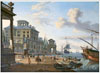 Anonymous artist. View of a Maritime Town. Fine Art Print A3