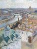Gritsenko Nikolay. View of Moscow from the bell tower of Ivan the Great. Art print on canvas - paintings, sale of paintings