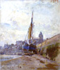Gritsenko Nikolay. Ebb in Treport. Art print on canvas