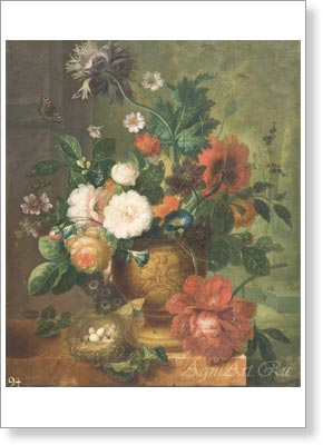 HuiJsum Jan van. Bouquet of Flowers. Art print postcard A6