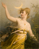 Hoffmann Oscar. Diana. Art print on canvas