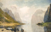 Fjords of Norway. Art print on canvas