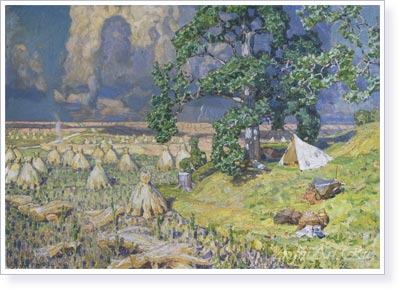 Vasnetsov Apollinariy. Approaching Thunderstorm. Art print on canvas - paintings, sale of paintings