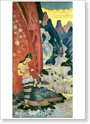 Roerich Nicholas. Song of the Waterfall 1920. Postcard A6
