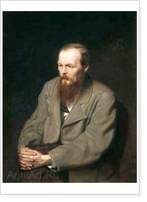 Perov Vasily. Portrait of the Writer Fyodor Mikhailovich Dostoyevsky. Fine art print B3