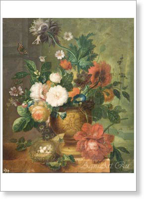 Huijsum Jan van. Bouquet of Flowers. Fine art print A3