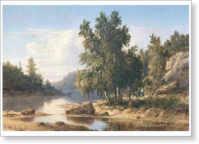 Jogin Pavel. Finnish Landscape. Fine art print B2