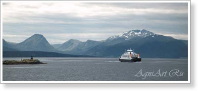 The world countries - landscapes. Norway. A ferry. 7760