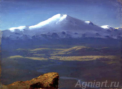 Kuinji Arkhip. Snowy Peaks. Art print on canvas