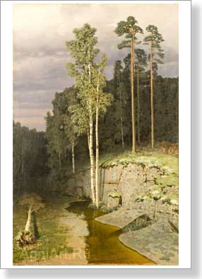 Kuinji Arkhip. On Valaam. Art print on canvas